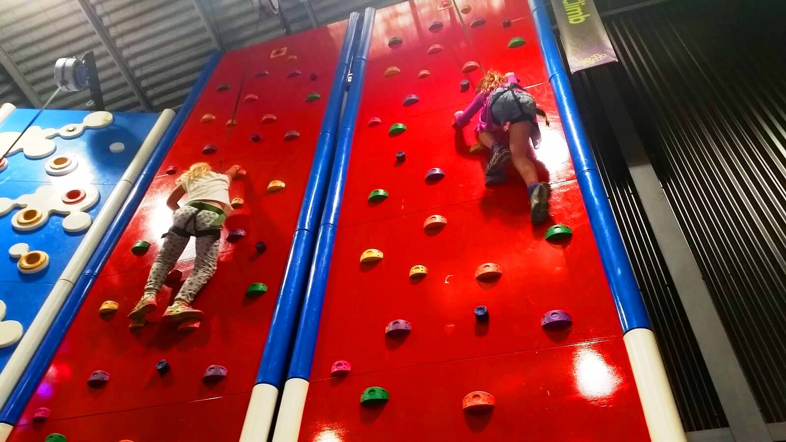 wall climbing fun in Melbourne