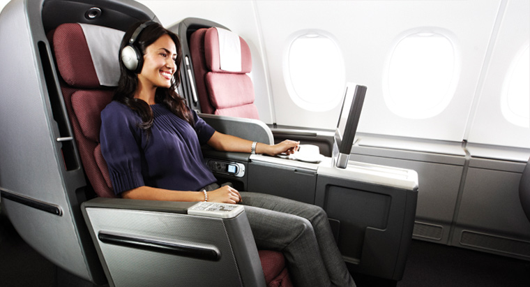 CARES harness in Qantas Business and Economy Class