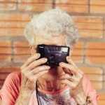 old grandma and camera