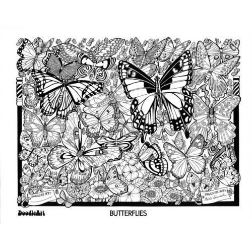 DoodleArt Mini Kit - Dolls-Flowers-Balloons-Butterflies