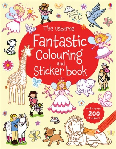 Fantastic Sticker and Colouring Book