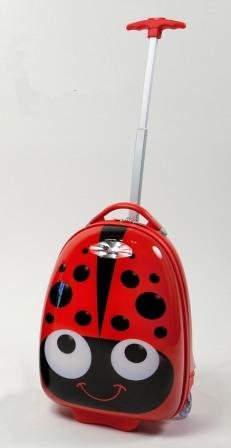 Kiddidoo Luggage And Backpack Set Red Beetle
