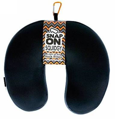 Squidgy Snap On Travel Pillow Black