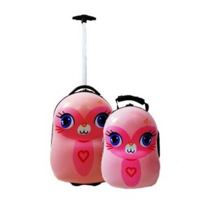 Conwood Luggage and Backpack Set - Pink Cat