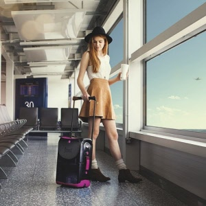 Jurni Sit-On Carry-On Suitcase - Pink