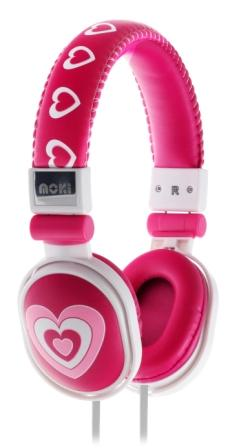 Moki Popper Headphones - Hearts