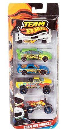 Team Hot Wheels Vehicle 5 Pack