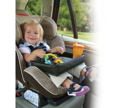 travel tray does a great job in the car play table for