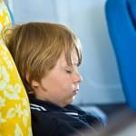 young passenger sleeping